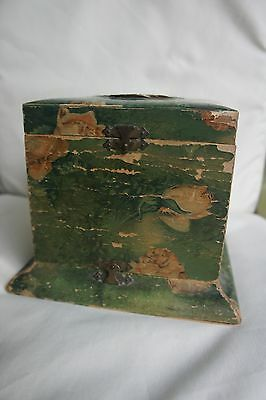 Antique Victorian Celluloid Dresser Collar Box with Roses