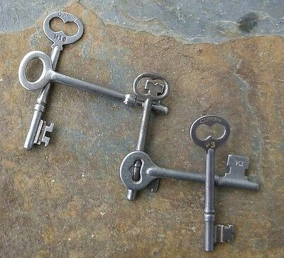 Five Antique Mortise Lock Skeleton Keys  Antique  & Vintage Door Keys