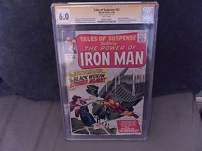 Iron Man Tales Of Suspense # 53 Signed By Stan Lee Cgc 6.0 White Pages