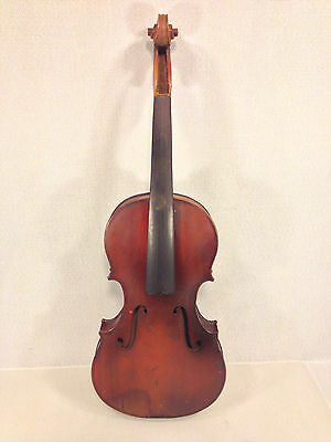 Antique Violin 2 Piece Belly and Back with Wood Case No Label France