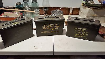 Lot Of 3 Vintage U.s.army Ammo Boxes!!