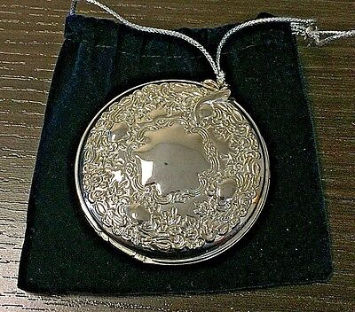 Vintage Silver Plate Godinger Compact Picture Mirror