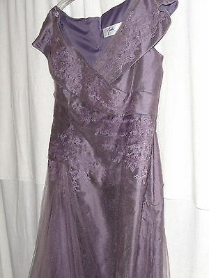 HURRY! Mother of the Bride Dress- Size 14  Jade by Jasmine  Purple  with Tafetta