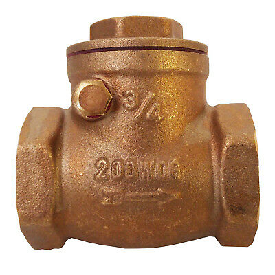"3/4"" Brass Swing Check Valve Lead Free FIP Threaded Ends"