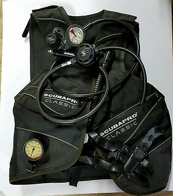 Scubapro Classic BCG, Scuba Regulator, dive knife, guages