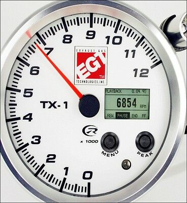 """NEW"" TX-1 Recording Tachometer from EGT 12K RPM 4.5"" DASH MOUNT VDO XTREME!"