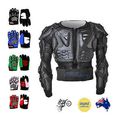 Kid MX GLOVES + BODY ARMOUR Dirt Bike Gear/Off-road/Motocross/Protective Gear AU