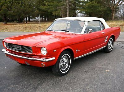 1966 Ford Mustang  1966 Mustang Convertible 289 A-Code / Manual Tranmission