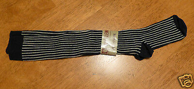 Vintage Anne Klein Pinstripe Knee Socks Women's NWT Made in USA Reading PA