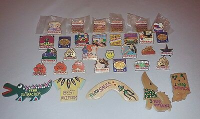 Lot of (33) Outback Steakhouse Employee Flair Award Pins & Badges