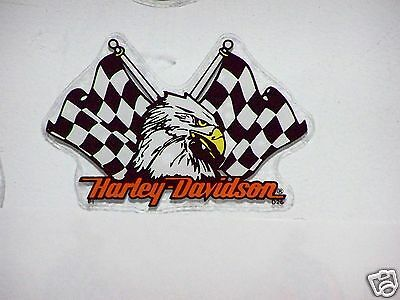 HARLEY DAVIDSON Motorcycles Eagle Flags IN Windshield Glass Window DECAL STICKER