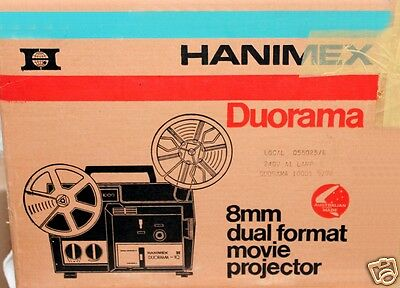 """Hanimex duorama Super 8 /8mm projector. I only sell"""" The BEST""""as NEW...BEST"""