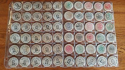 60 President State Political Wooden Nickels Lot  DC