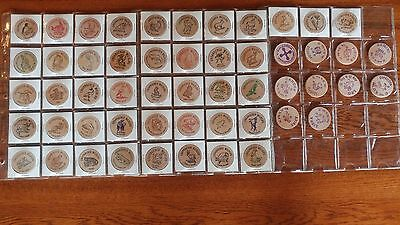 53 Zodiac Endangered Species Wooden Nickels Lot  DC