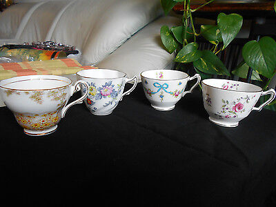 Lot of 4 Collectors England Cups (Crown Straffordshire, Royal Standard, Rosina)