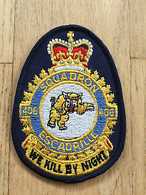 MKartifacts RCAF CF Canadian Air Force Heraldic 406 Squadron Crest Badge Patch