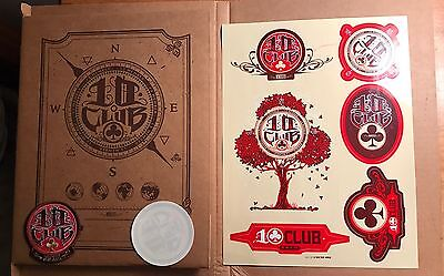 NEW Pearl Jam 2013 Ten Club gift, Lithograph Poster, Patch, Stickers, 10Club