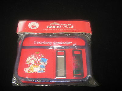 Vintage Strawberry Shortcake Carry-Alls eith Comb and Mirror Sealed