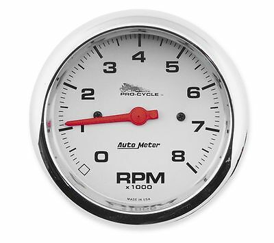 New Auto Meter 19301 Harley Pro Cycle Street Tachometer 3-3/4 Diameter 8000 RPM