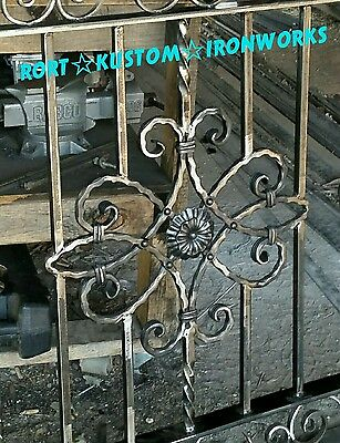 WROUGHT IRON FENCE PANELS handmade to order