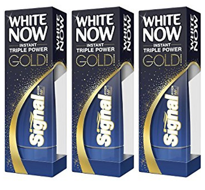 """LOT 3 TUBES DENTIFRICE - """"White Now Gold"""" - SIGNAL"""