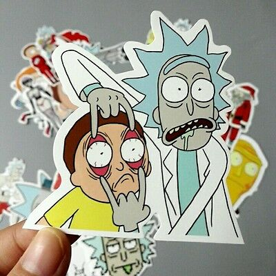 "Rick and Morty Decal Sticker (3""x 3"") High Quality - Adult Swim"