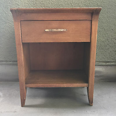 1955 Antique Drexel Profile Collection Mid-Century Nightstand by John Van Koert