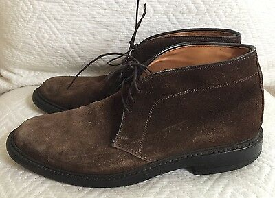"Allen Edmonds Men's ""Dundee"" Brown  Suede Boots Size  7.5 D  Made In USA"
