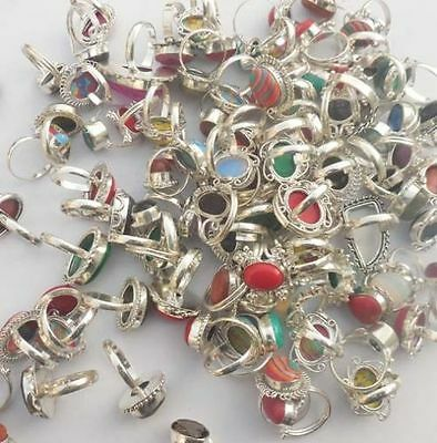 100 Gram 925 Stamped Sterling Silver Wholesale Lot Rings Lot 10-12 Pcss