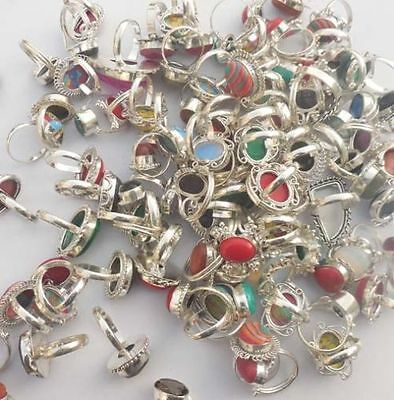 600 Gram 925 Stamped Sterling Silver Wholesale Lot Rings Lot 60-70 Pcs