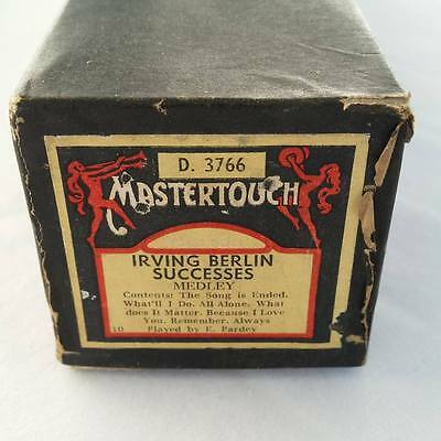 Pianola Piano Roll Irving Berlin Successes Medley Mastertouch D 3766 - 052