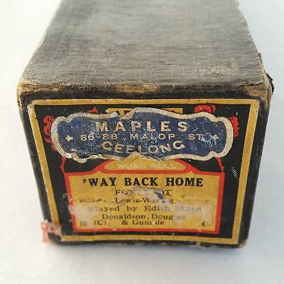 Pianola Piano Roll Way Back Home - Foxtrot Mastertouch AD 3304 - 053