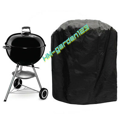 Black Large Waterproof Outdoor Garden Kettle Barbecue/BBQ Chimney Grill UV Cover