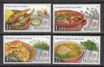 Moldova Moldawien 2014  MNH** Mi. 879-882 Traditional Food and Herbs