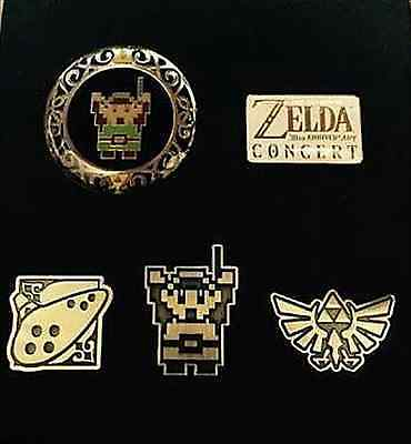 NEW!! The Legend of ZELDA 30th anniversary Concert Pin Badge Nintendo from JAPAN