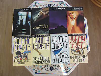 Collection of 8 Agatha Christie Books 1980's & 2002 Vintage P/B