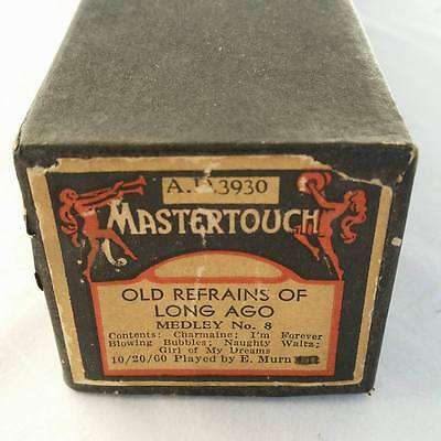 Pianola Piano Roll Old Refrains From Long Ago Medley 8 MASTERTOUCH AD 3930 - 62