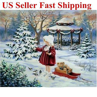 5D Snow Girl Diamond Painting Embroidery Cross Stitch Home Wall Decor Craft