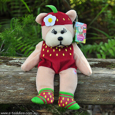 NEW Strawbeary the Bear - Beanie Kid Collectable