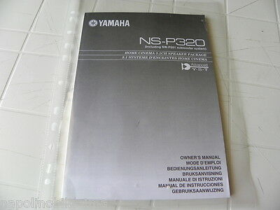 Yamaha NS-P320 / SW-P201 Owner's Manual  Operating Instruction   New