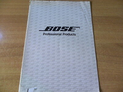 brochure catalogo Bose professional products