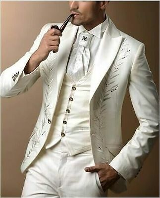 High Quality Mens Wedding Suits Groom Suits Fashion Groomsman Tailcoats Custom