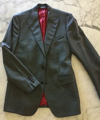 Dolce And Gabbana Mens Blazer Jacket Grey Size 40 As New Made In Italy