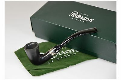 Peterson Calabash Ebony Fishtail Tobacco Pipe no filter New with box