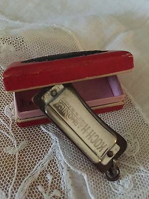 Miniature Small Koch Harmonica Mouth Organ Vintage With Box