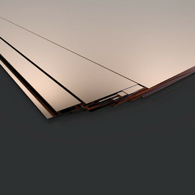 Copper sheet plate guillotine cut model making 0.5mm various sizes