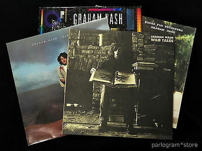 Graham Nash - Collection of 4 LPs - Complete Solo Output 1971-86  Ex-Hollies