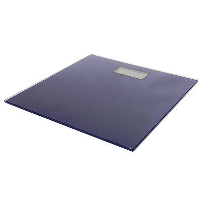 Digital Bathroom Scale Ultra Slim Glass Electronic Weight Scales Navy 180kg/100g