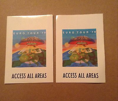 Lot Of 2 Boston Backstage Passes