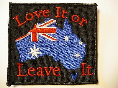 Love it or Leave it Patch Sew/Iron  - Men's Shed rider biker Motorcycle